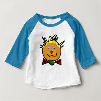 """T-shirt bleu pour bébé, manches raglan, """"Clown"""""""