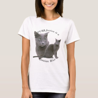 T-shirt Bleu russe de PURRfection