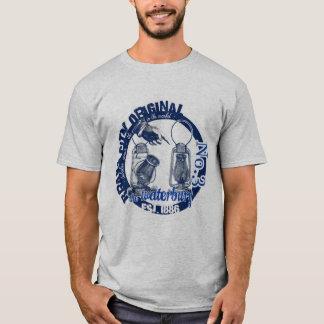T-shirt BLEU tubulaire de chemise de lanterne de la ville