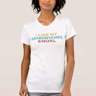 T-shirt BLgT I aiment mes sandwichs égaux