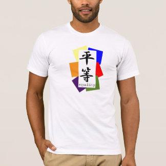 T-shirt Blocs et kanji de couleur d'égalité