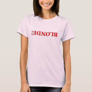 T-shirt blond !