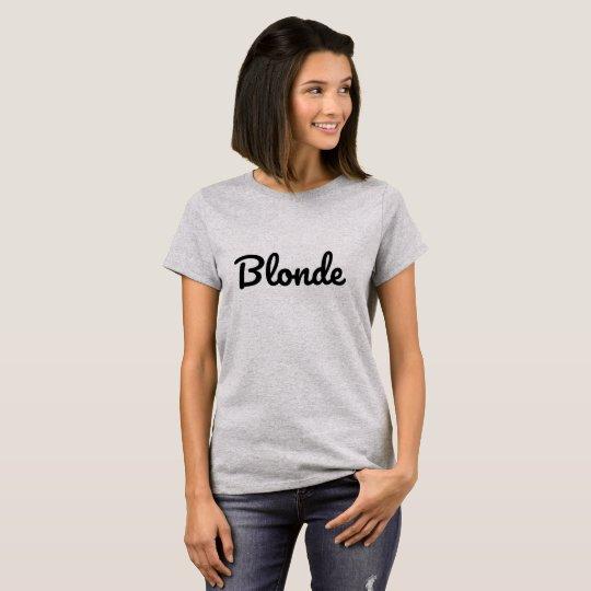 T-shirt Blonde