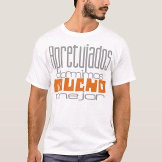 T-shirt Bloqués nous dormons beaucoup mieux gris&naranja