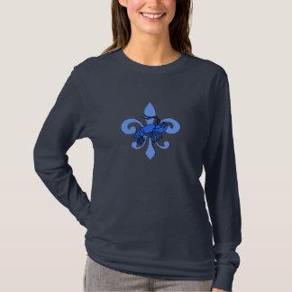 T-shirt Blue Fleur De Lis, bleu couvre de tuiles des