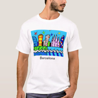 T-shirt Blue sky fun from Barcelone