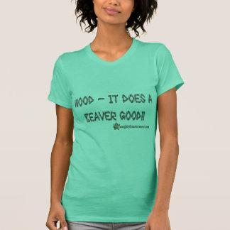 T-shirt Bois il fait un castor bon