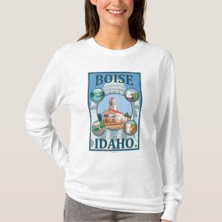 T-shirt Boise, affiche de voyage d'IdahoScenic