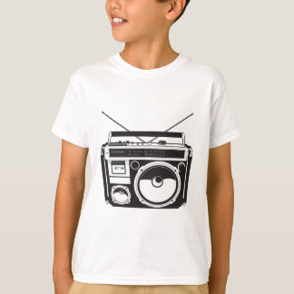 T-shirt ☞ Boîte de boom Oldschool/cassette Player
