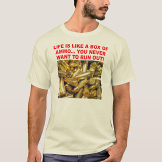 T-shirt boîte de munitions