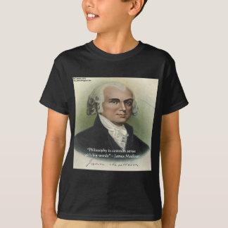 T-shirt Bon sens de James Madison citation de