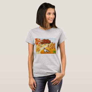 T-shirt Bon thanksgiving rouge et blanc de poseur