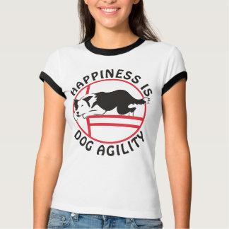 T-shirt Bonheur d'agilité de border collie