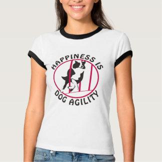 T-shirt Bonheur d'agilité de border collie Polonais