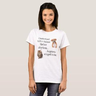 T-shirt Bonheur enveloppé en fourrure