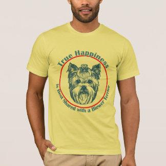 T-shirt Bonheur vrai avec un Biewer Terrier