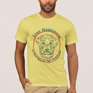 T-shirt Bonheur vrai avec un Schnoodle