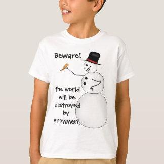 T-shirt Bonhomme de neige drôle mauvais de Noël