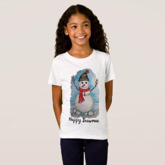 T-Shirt Bonhomme de neige magnifique d'aquarelle avec