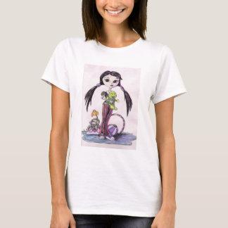 """T-shirt Bonjour chariots : """"Leela"""" la fille de Pouty"""