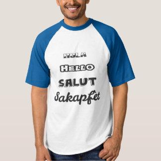 T-shirt Bonjour dans quatre langues