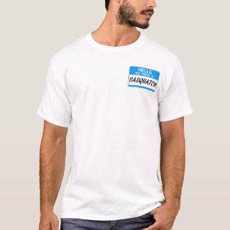 T-shirt Bonjour étiquette nommée Sasquatch