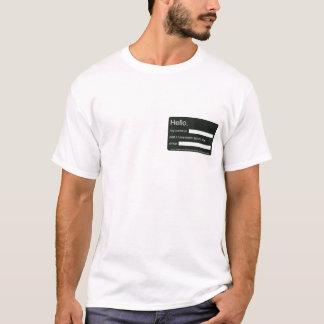 T-shirt Bonjour, je suis bousculade libre depuis