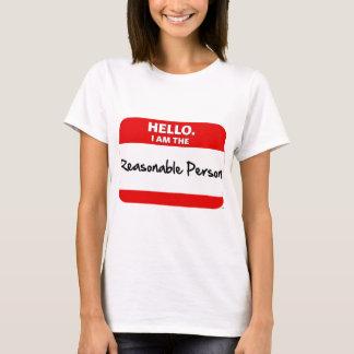 T-shirt BONJOUR.  Je suis la PERSONNE RAISONNABLE