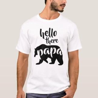 T-shirt Bonjour là ours de papa