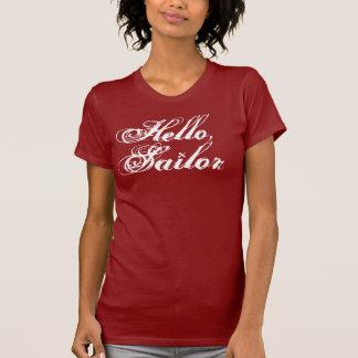 T-shirt Bonjour, la pièce en t de la fille de marin
