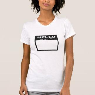 T-shirt Bonjour mon nom est…