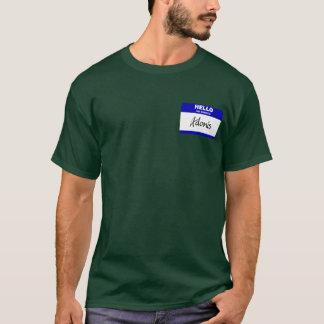T-shirt Bonjour mon nom est Adonis (bleu)