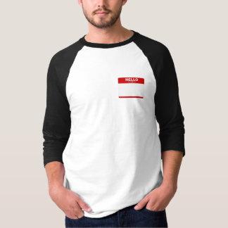 T-shirt BONJOUR mon nom est… (autocollant rouge)