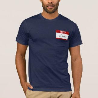 T-shirt Bonjour mon nom est Cindy (rouge)