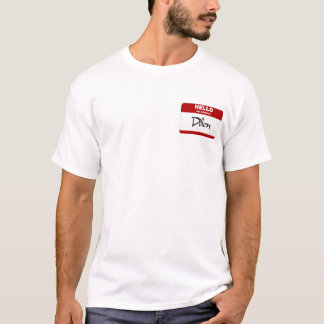 T-shirt Bonjour mon nom est Dillon (rouge)