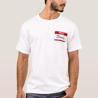 T-shirt Bonjour mon nom est Dominique (rouge)