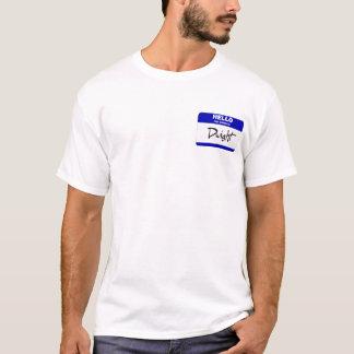 T-shirt Bonjour mon nom est Dwight (bleu)
