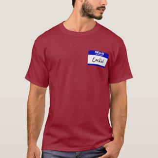 T-shirt Bonjour mon nom est Ezekiel (bleu)