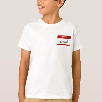T-shirt Bonjour mon nom est Ezekiel (rouge)