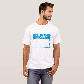 T-shirt Bonjour, mon nom est (le bleu)