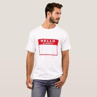 T-shirt Bonjour, mon nom est (le rouge)