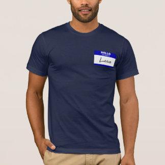 T-shirt Bonjour mon nom est Lexus (bleu)