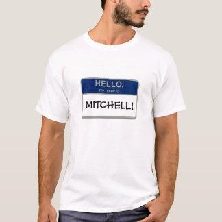 T-shirt Bonjour, mon nom est Mitchell !