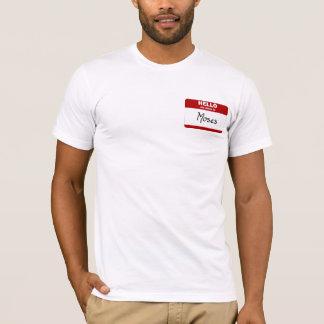 T-shirt Bonjour mon nom est Moïse (rouge)