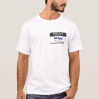 T-shirt bonjour, posture accroupie de Jack, [n'attendez