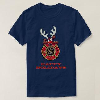 T-shirt Bonnes fêtes corps de sapeurs-pompiers de St Louis