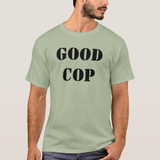 T-shirt Bons police, avant et dos de pochoir de cannette