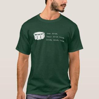 T-shirt boom, tambour, boom. (pour des obscurités)