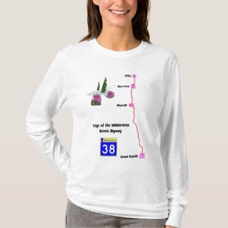 T-shirt Bord du chemin détourné pittoresque de région