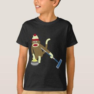 T-shirt Bordage olympique de singe de chaussette